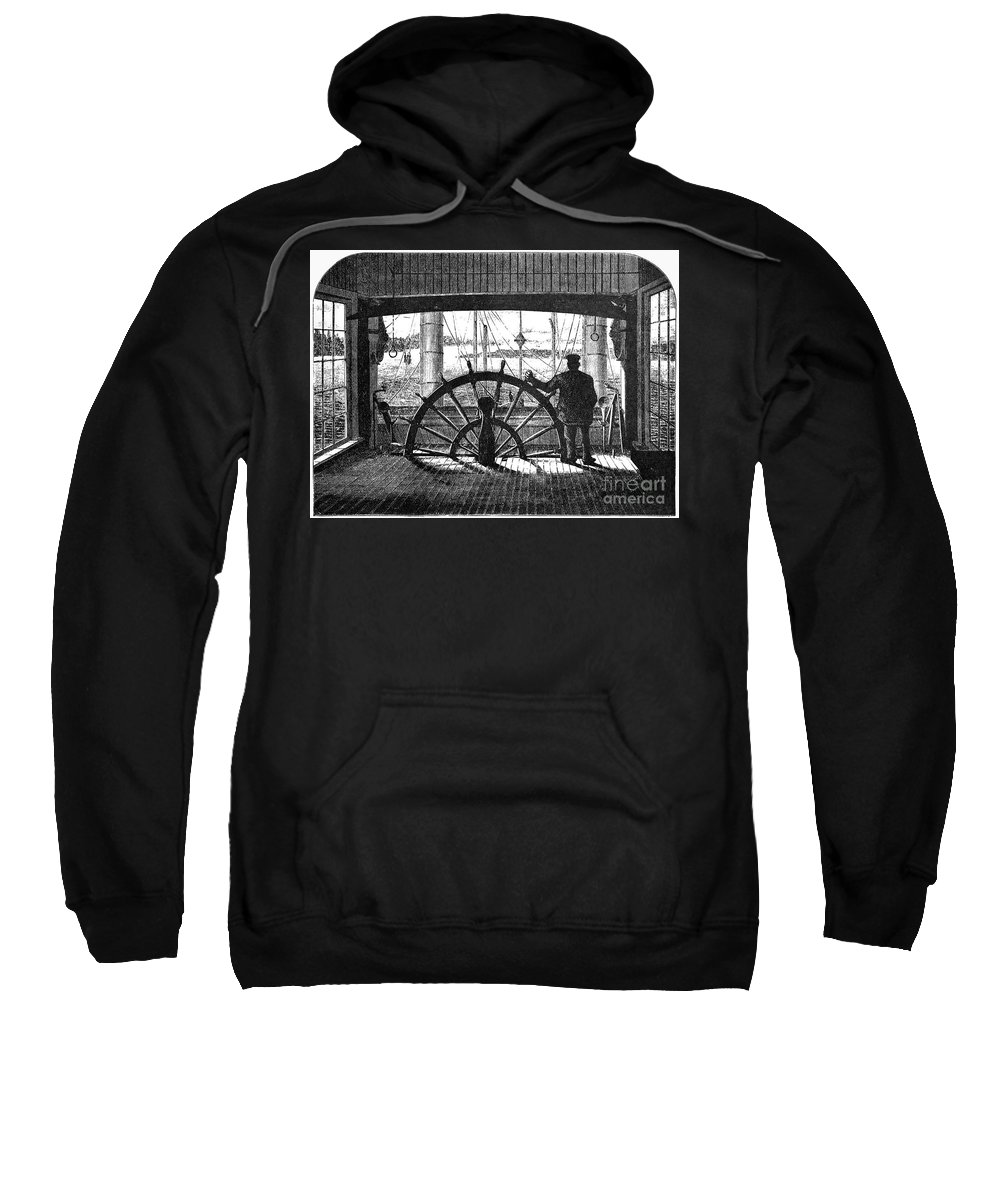 1875 Sweatshirt featuring the photograph Steamboat: Great Republic by Granger