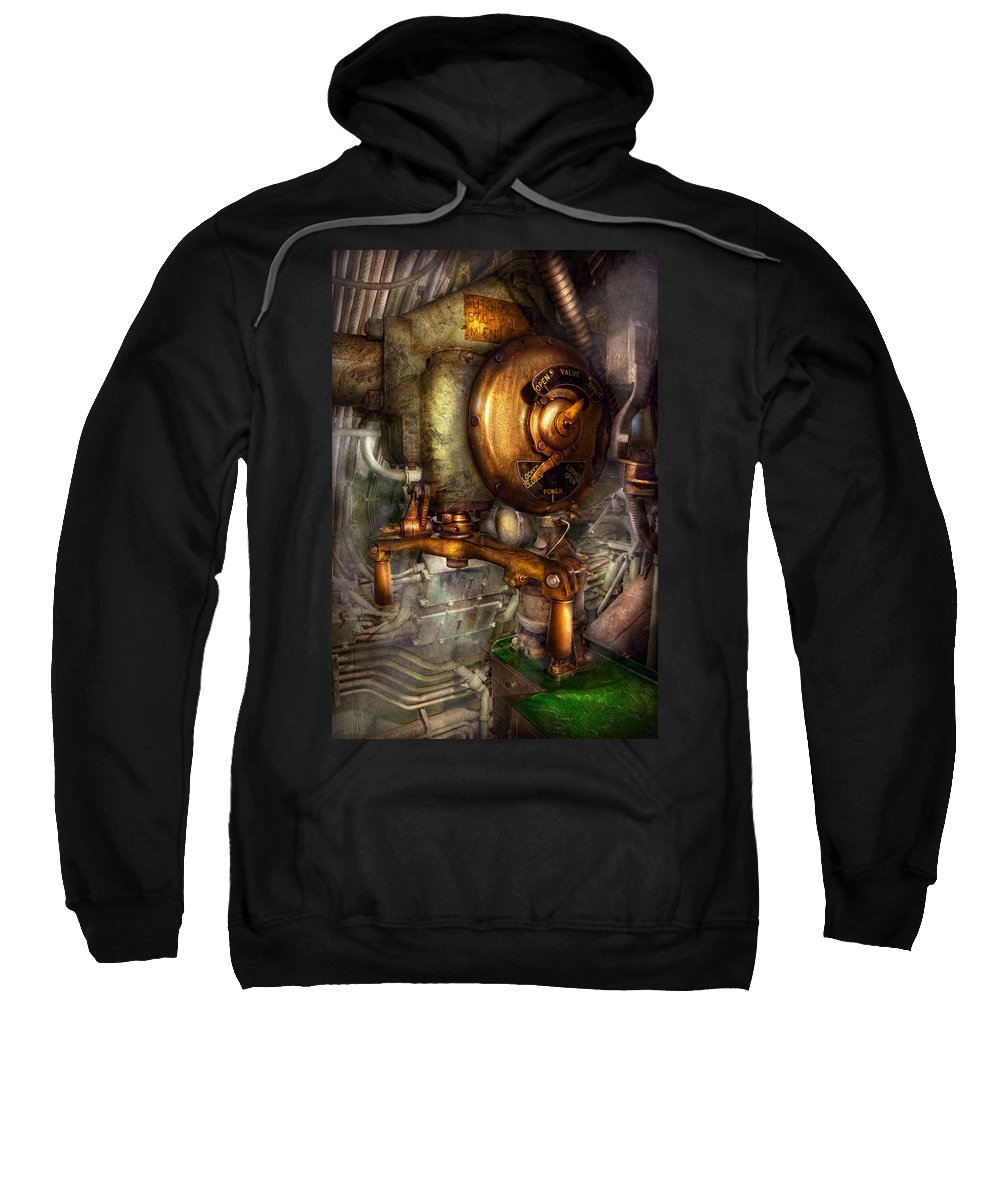 Steampunk Art Sweatshirt featuring the photograph Steampunk - Naval - Shut The Valve by Mike Savad