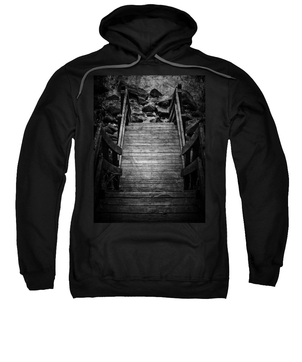 Jerry Cordeiro Sweatshirt featuring the photograph Steps To See by The Artist Project