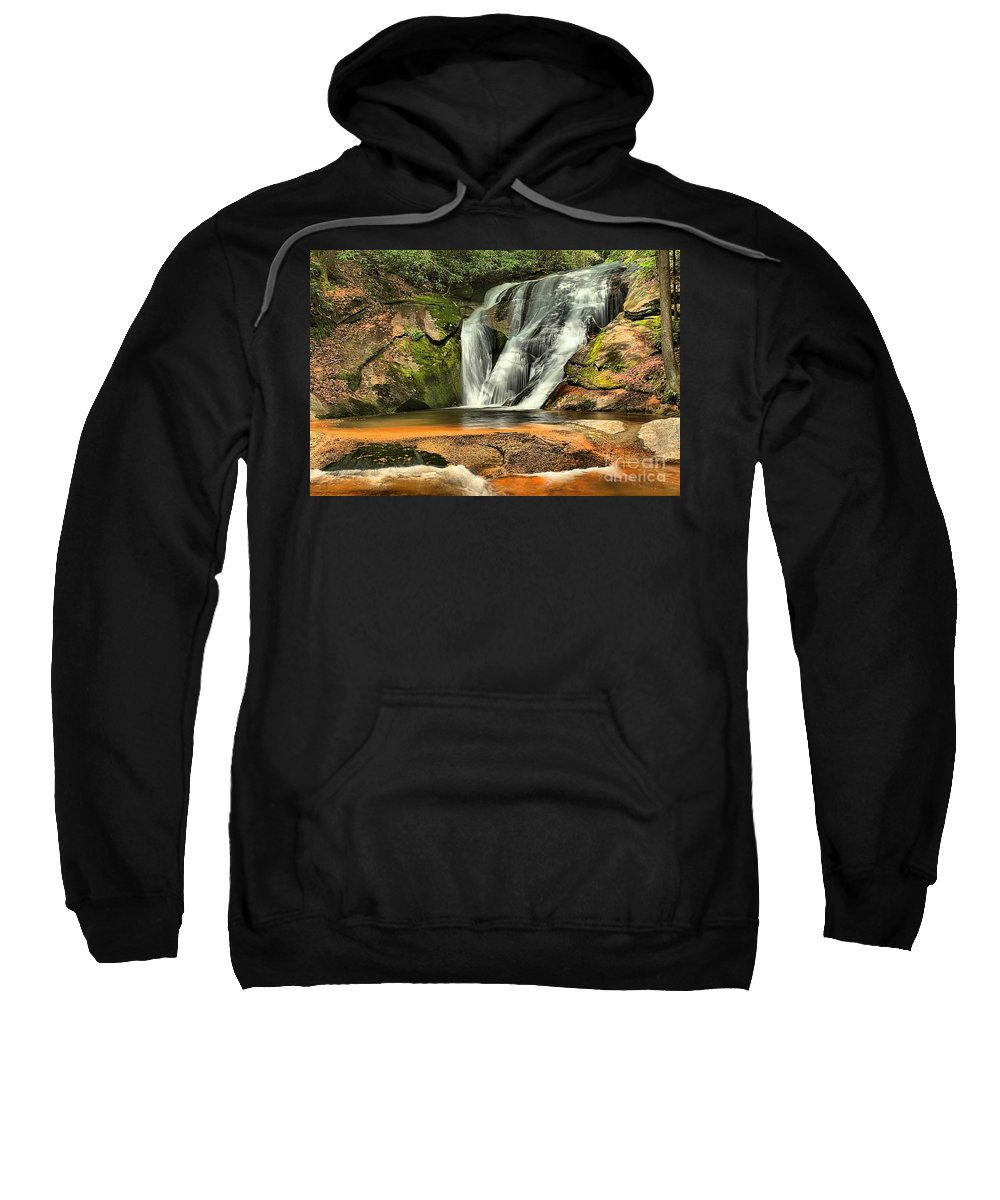 Stone Mountain Sweatshirt featuring the photograph Stone Mountain Window Falls by Adam Jewell
