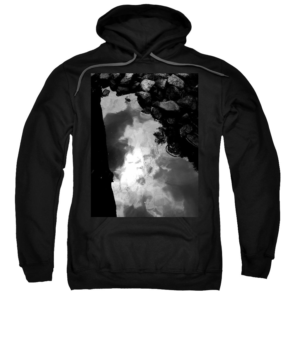 Black And White Sweatshirt featuring the photograph Stoney Reflections by Michele Nelson