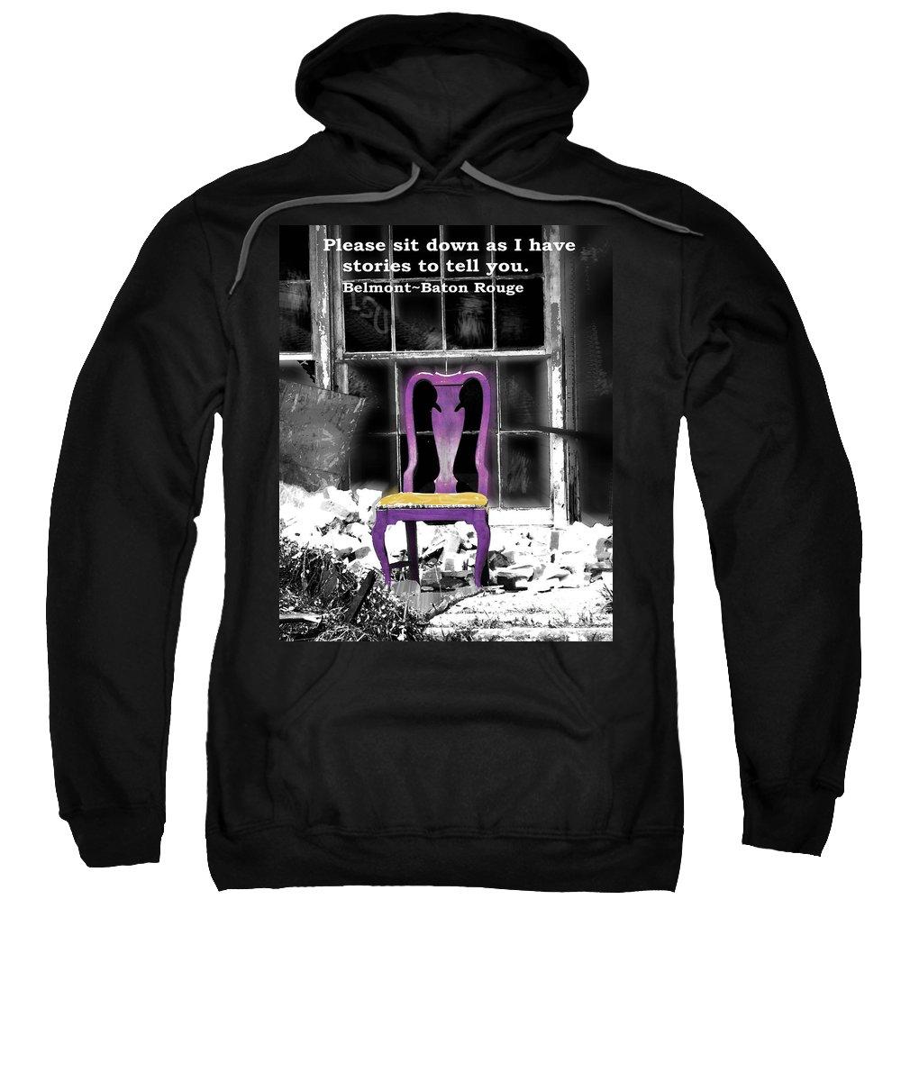 Urban Scene Sweatshirt featuring the photograph Stories Belmont Baton Rouge by Lizi Beard-Ward