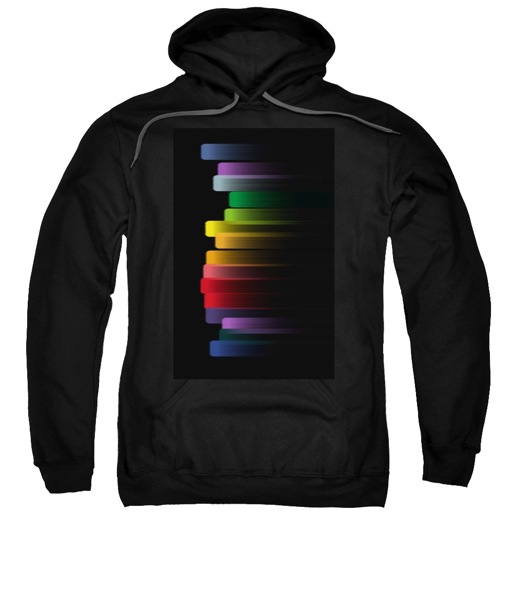 Color Sweatshirt featuring the digital art Stripe by Eric Weeber