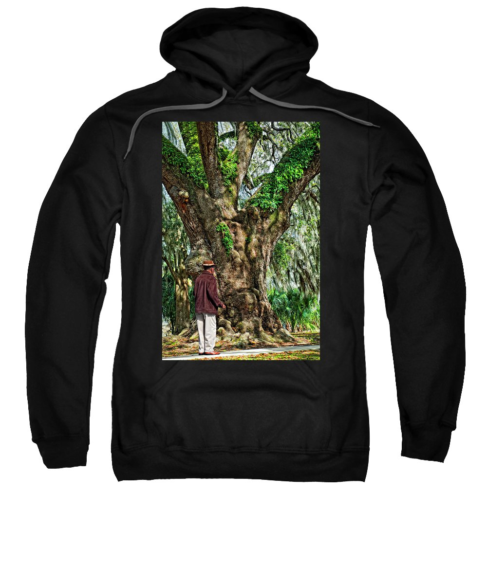 New Orleans Sweatshirt featuring the photograph Strolling With Giants by Steve Harrington