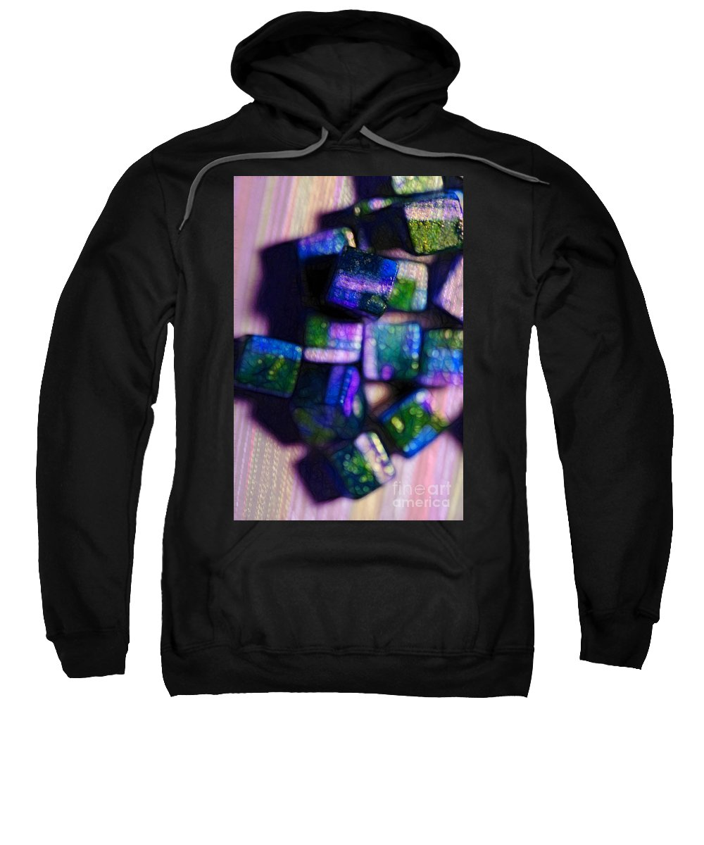 Beads Sweatshirt featuring the photograph Study Of Beads And Yarn by Judi Bagwell