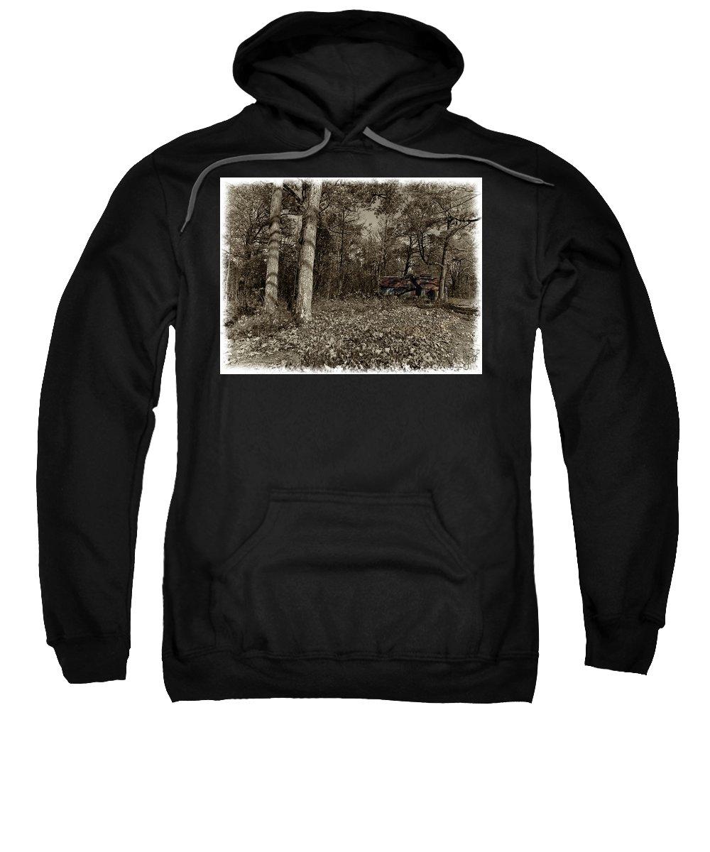 Xdop Sweatshirt featuring the photograph Sugar Shack In Sepia by John Herzog