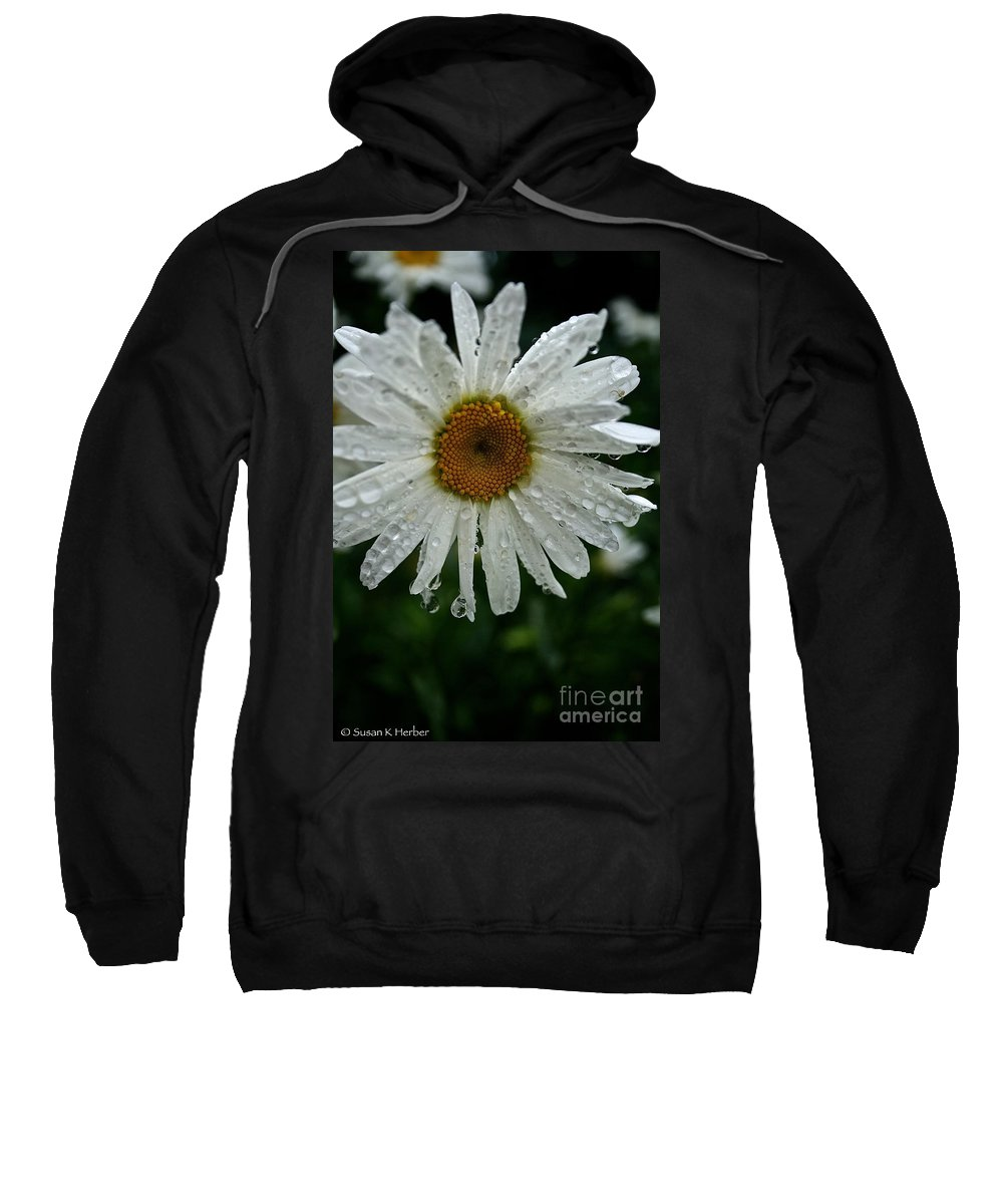 Floral Sweatshirt featuring the photograph Summer Rain by Susan Herber