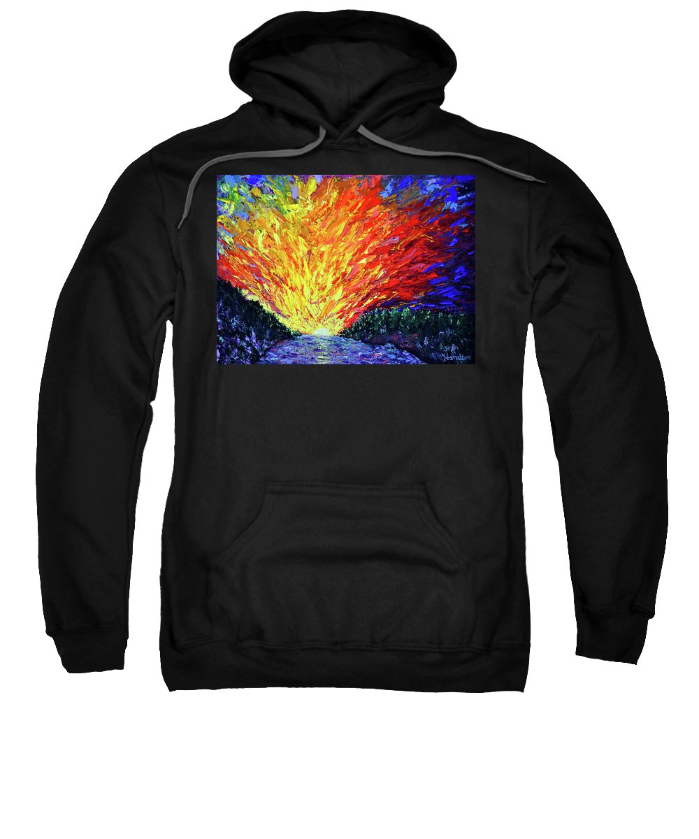 The Second Coming Sweatshirt featuring the painting The Second Coming by Stan Hamilton