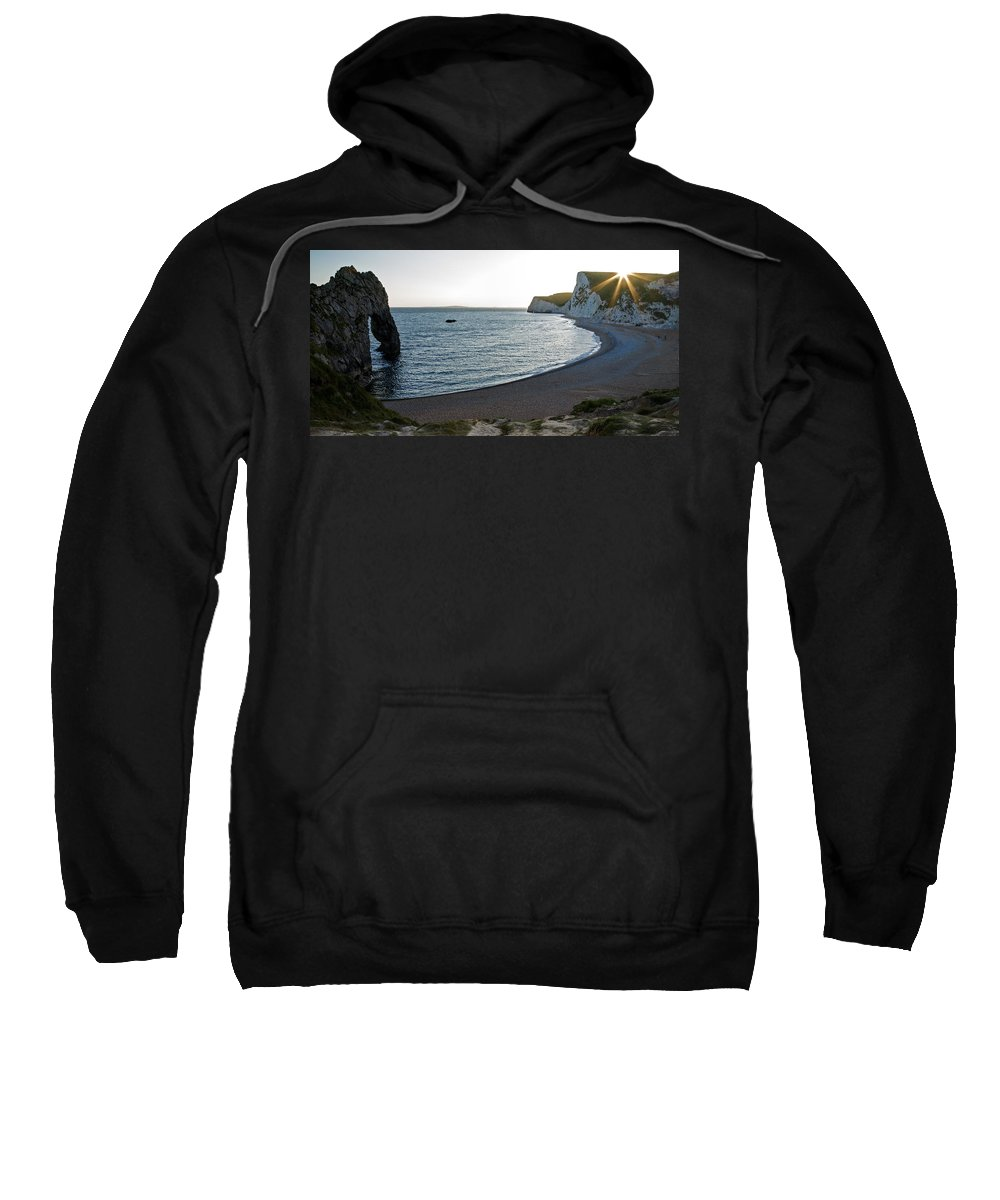 Durdle Sweatshirt featuring the photograph Sundown At Durdle Door by Ian Middleton