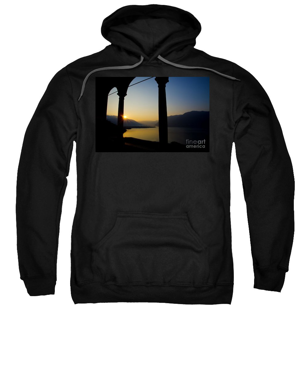 Sunrise Sweatshirt featuring the photograph Sunrise Over The Mountains by Mats Silvan
