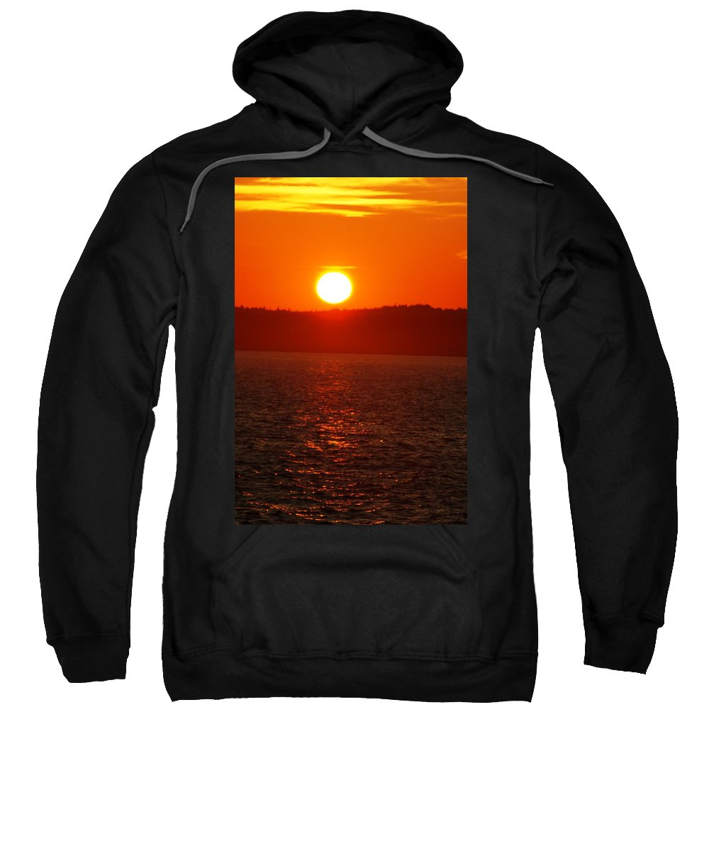 Sunset Sweatshirt featuring the photograph Sunset II by Joe Faherty