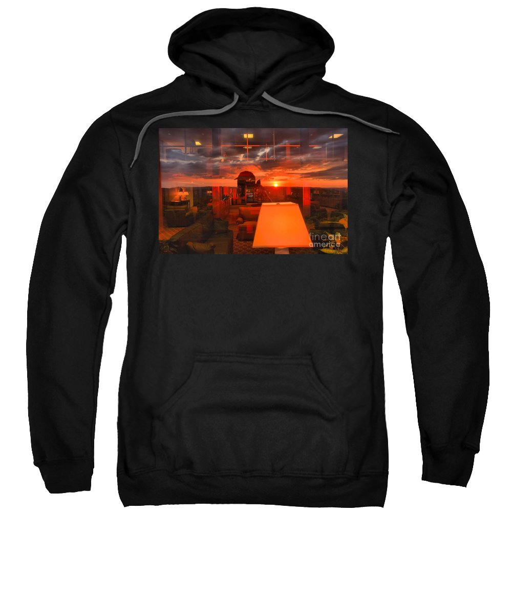 Mckeever Lodge Sunset Sweatshirt featuring the photograph Sunset In Mckeever Lobby by Adam Jewell