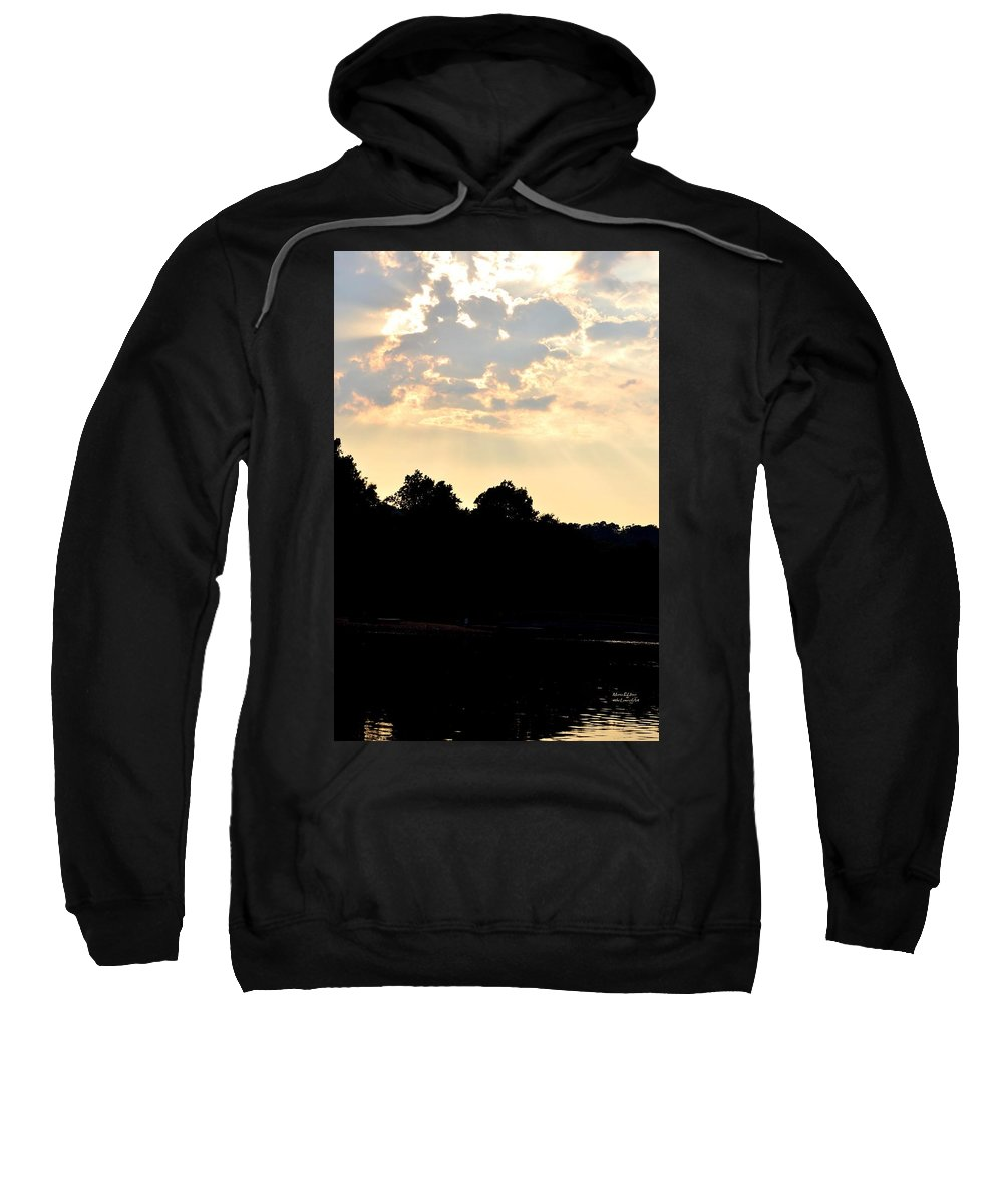 Sunset Sweatshirt featuring the photograph Sunset Silhouettes Over Star Lake by Maria Urso