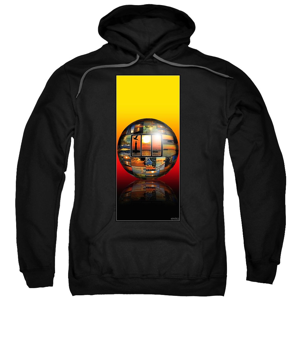 Sweatshirt featuring the photograph Sunsets by Michael Frank Jr