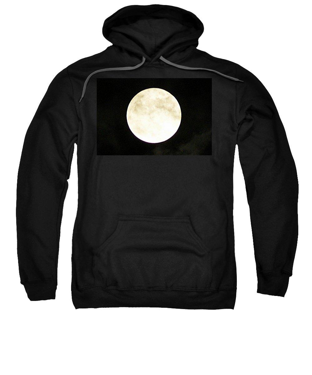 Super Sweatshirt featuring the photograph Super Moon I by Joe Faherty