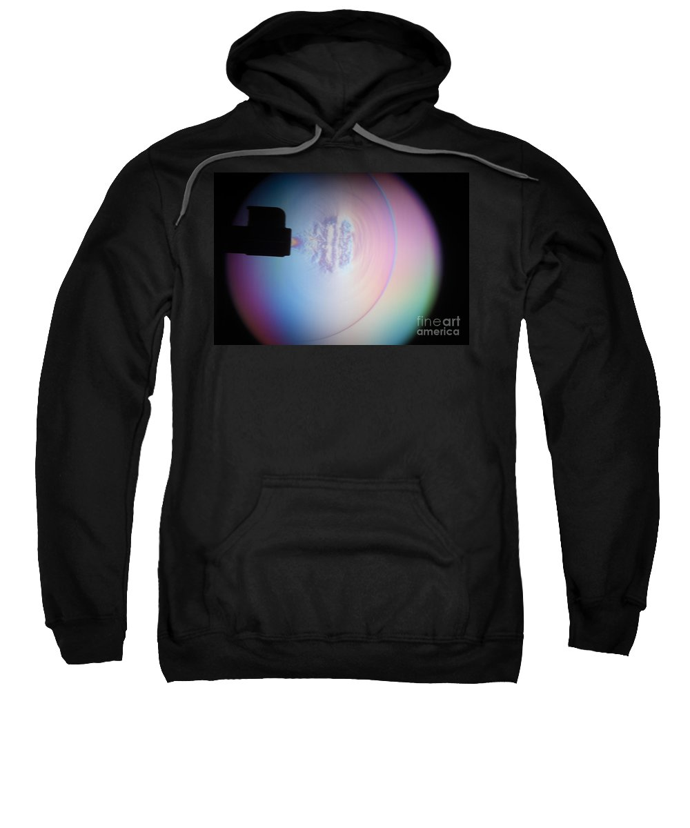 High-speed Photography Sweatshirt featuring the photograph Supersonic Shockwave by Ted Kinsman