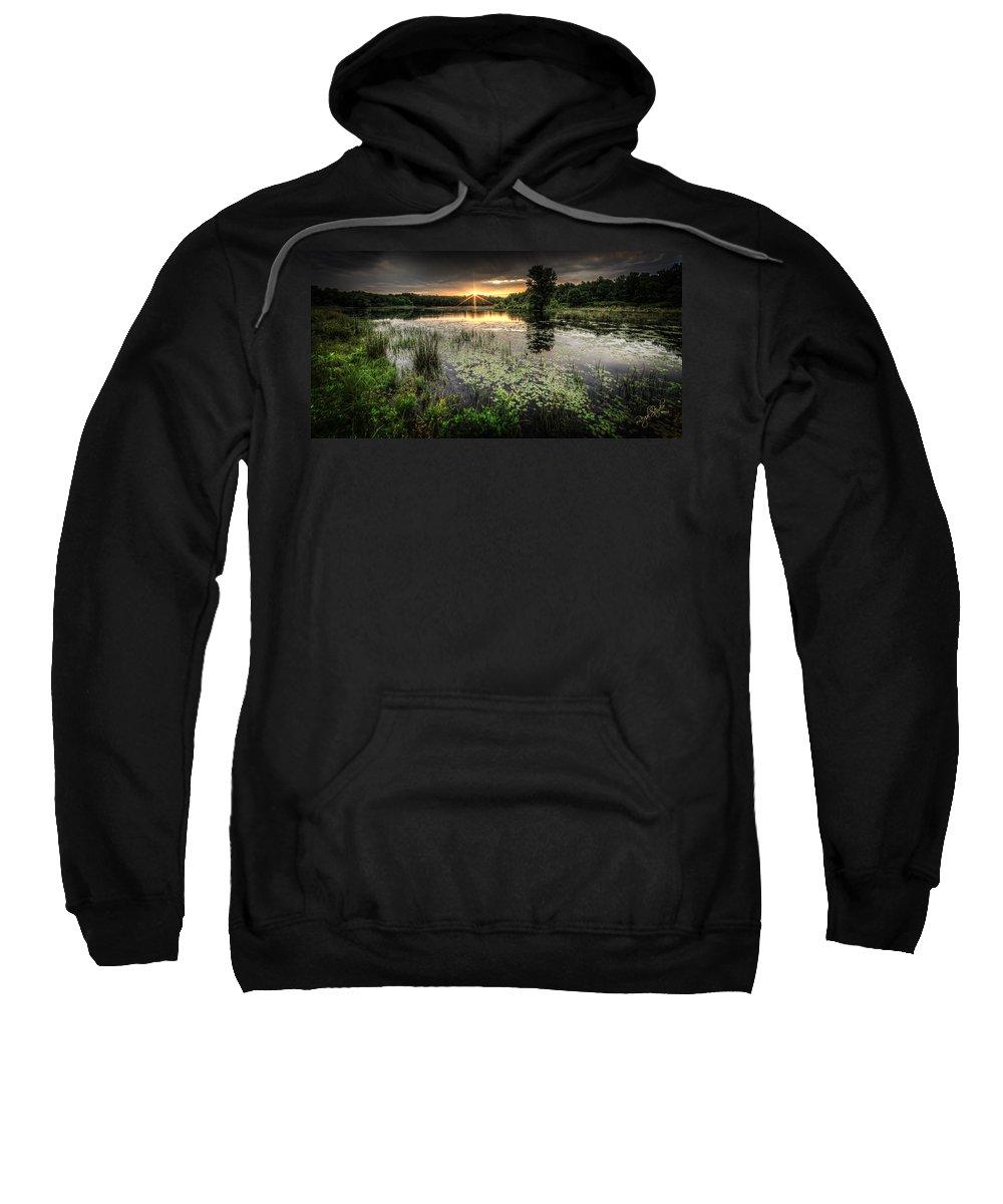 Sunrise Sweatshirt featuring the photograph Swamp Sunrise by Everet Regal