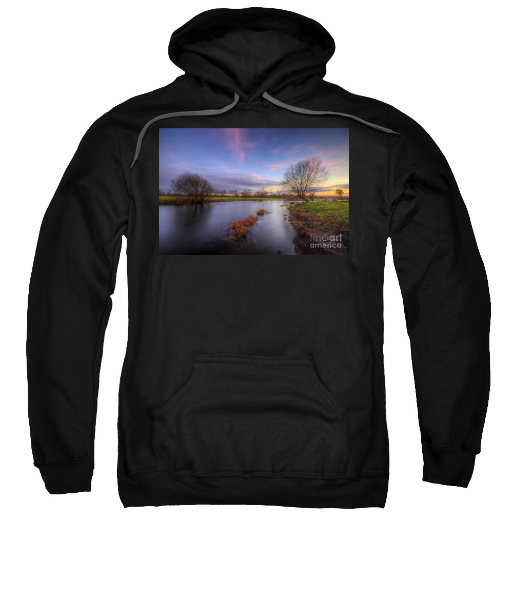 Hdr Sweatshirt featuring the photograph Swampy 3.0 by Yhun Suarez