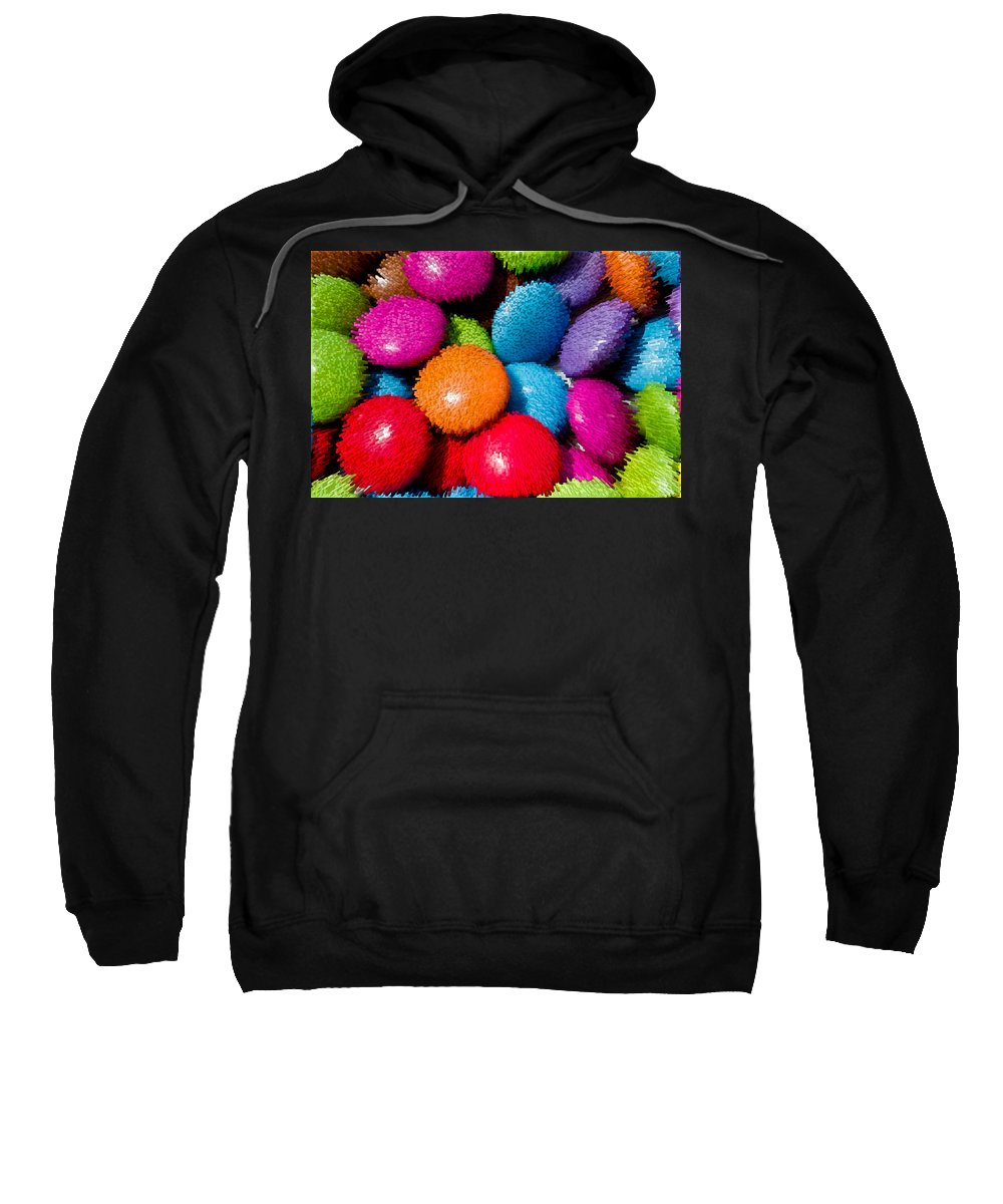 Smarties Sweatshirt featuring the digital art Sweet Abstract 3d by David Pyatt