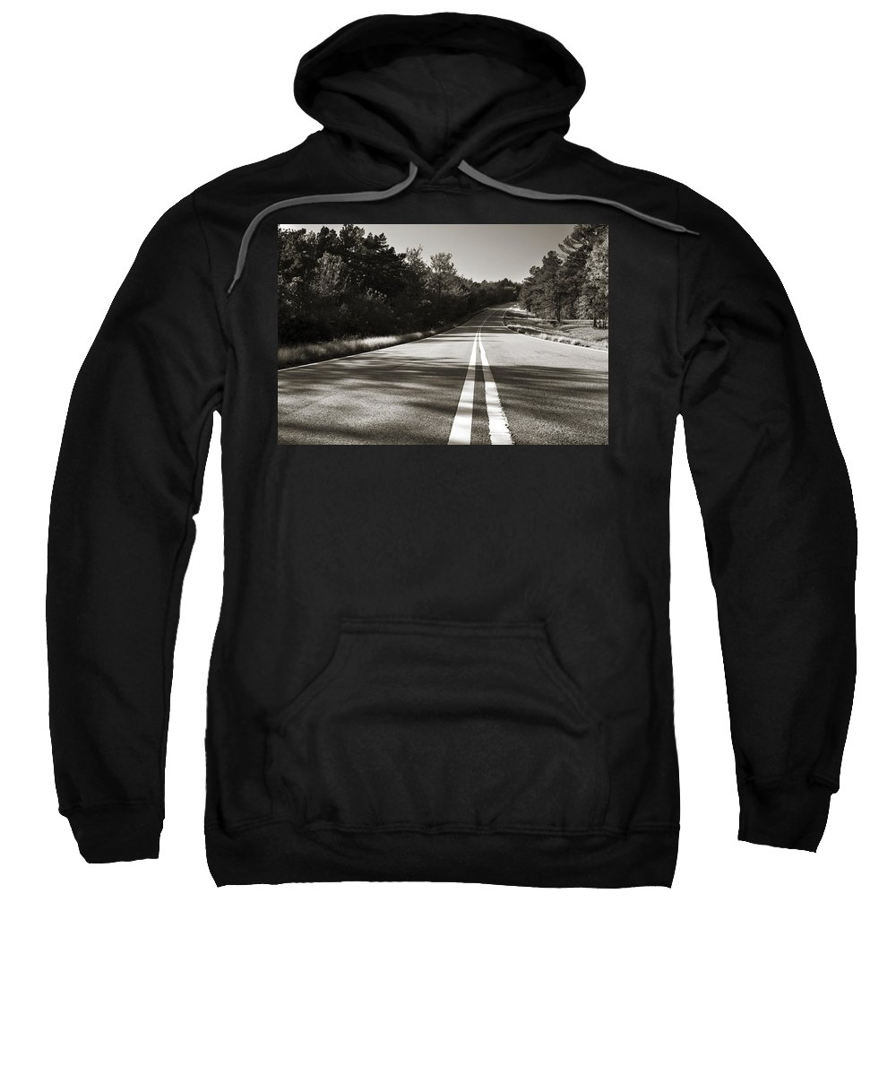 Adventure Sweatshirt featuring the photograph Talimena Roads II by Ricky Barnard
