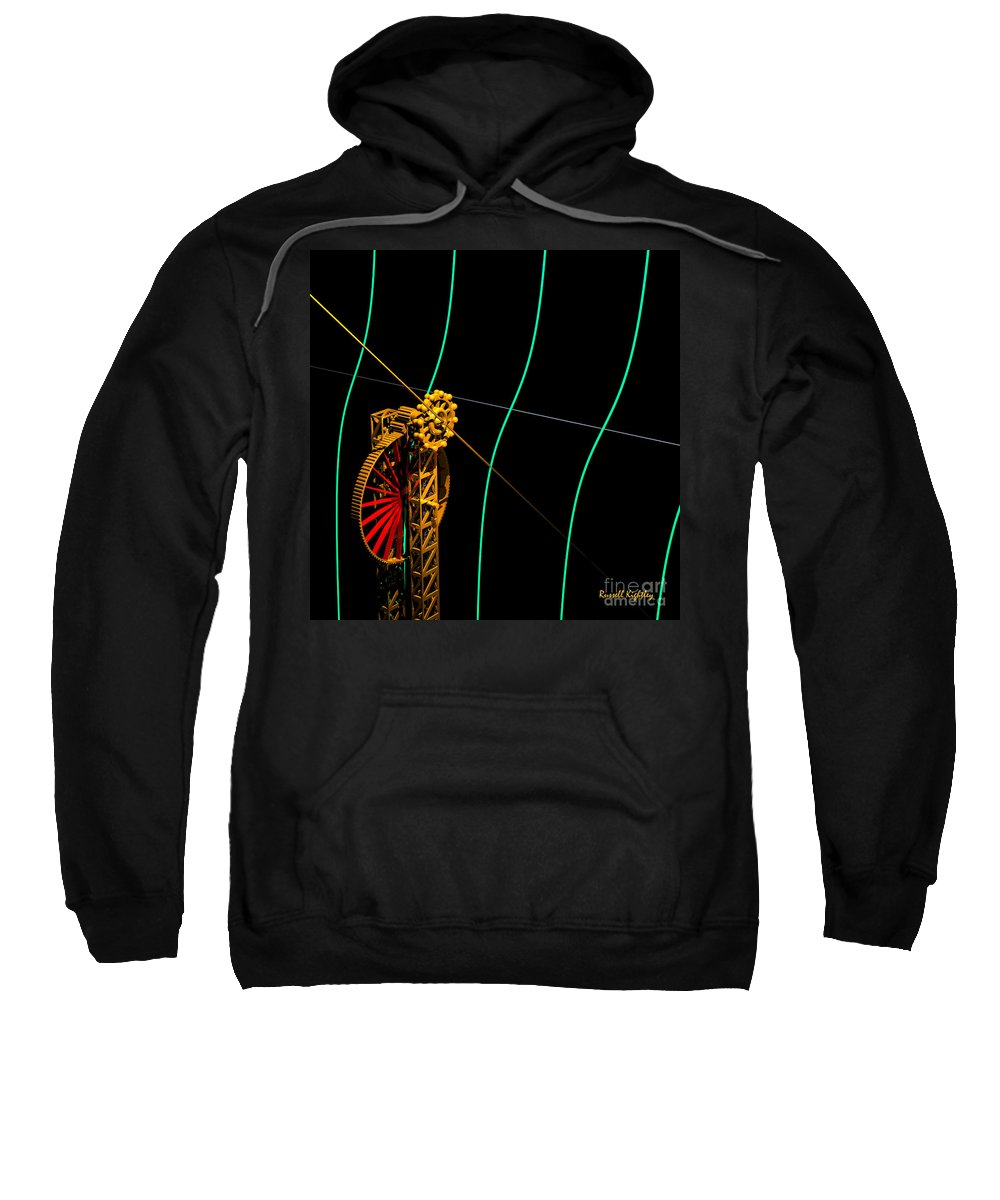 Angle Sweatshirt featuring the digital art Tangent Graph Math Engine by Russell Kightley
