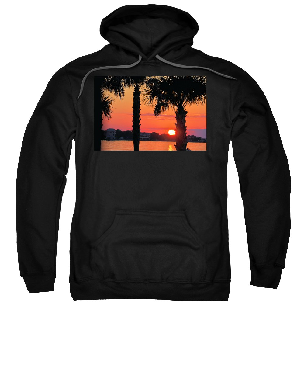 Seascapes Sweatshirt featuring the photograph Tangerine Dream by Jan Amiss Photography
