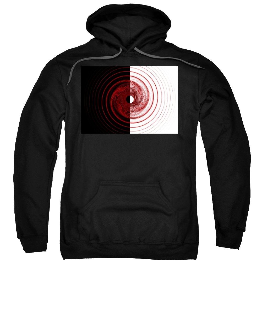 Fractal Sweatshirt featuring the digital art Target by Betsy Knapp