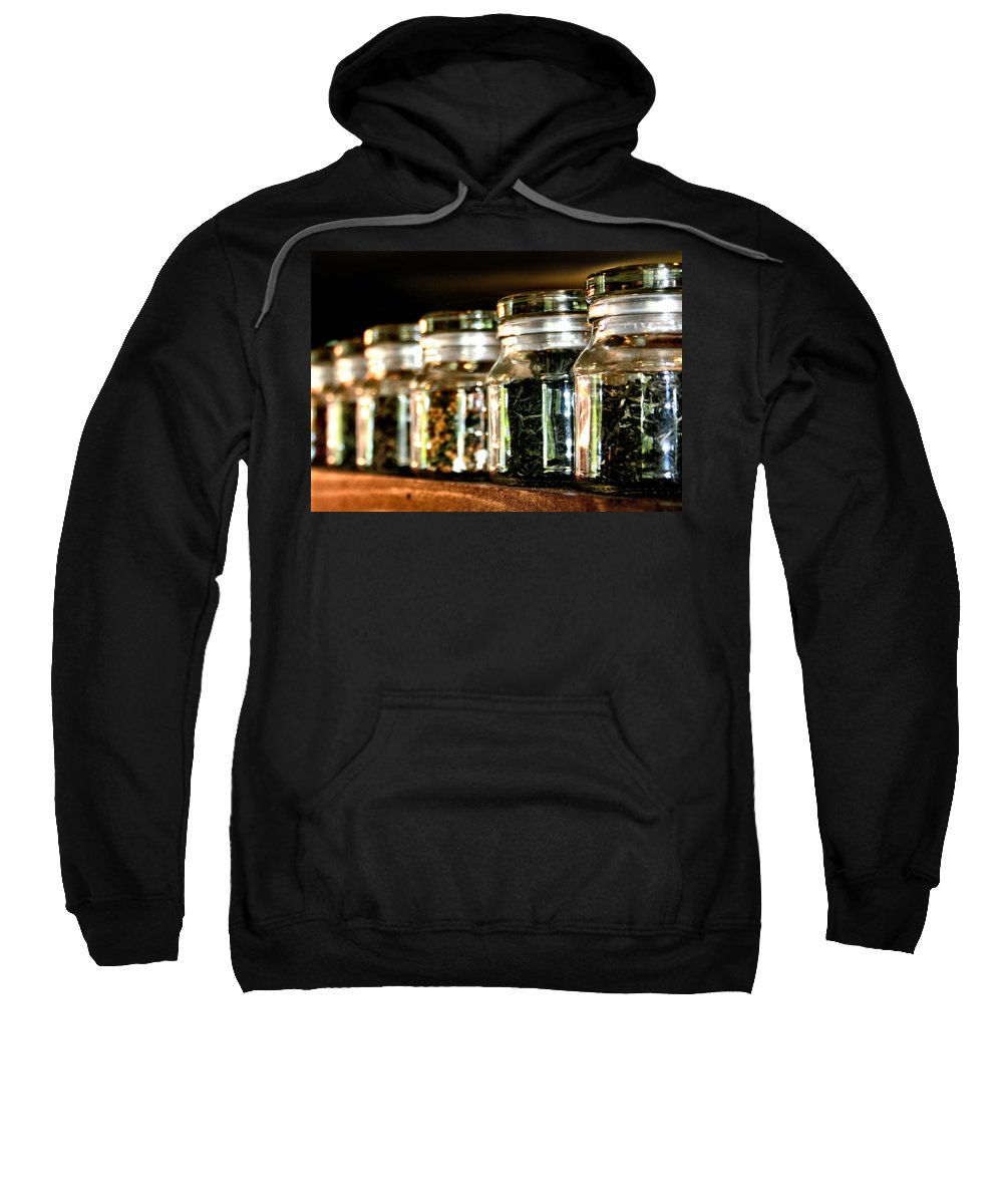 Tea Sweatshirt featuring the photograph Tea Soldiers by Sally Bauer