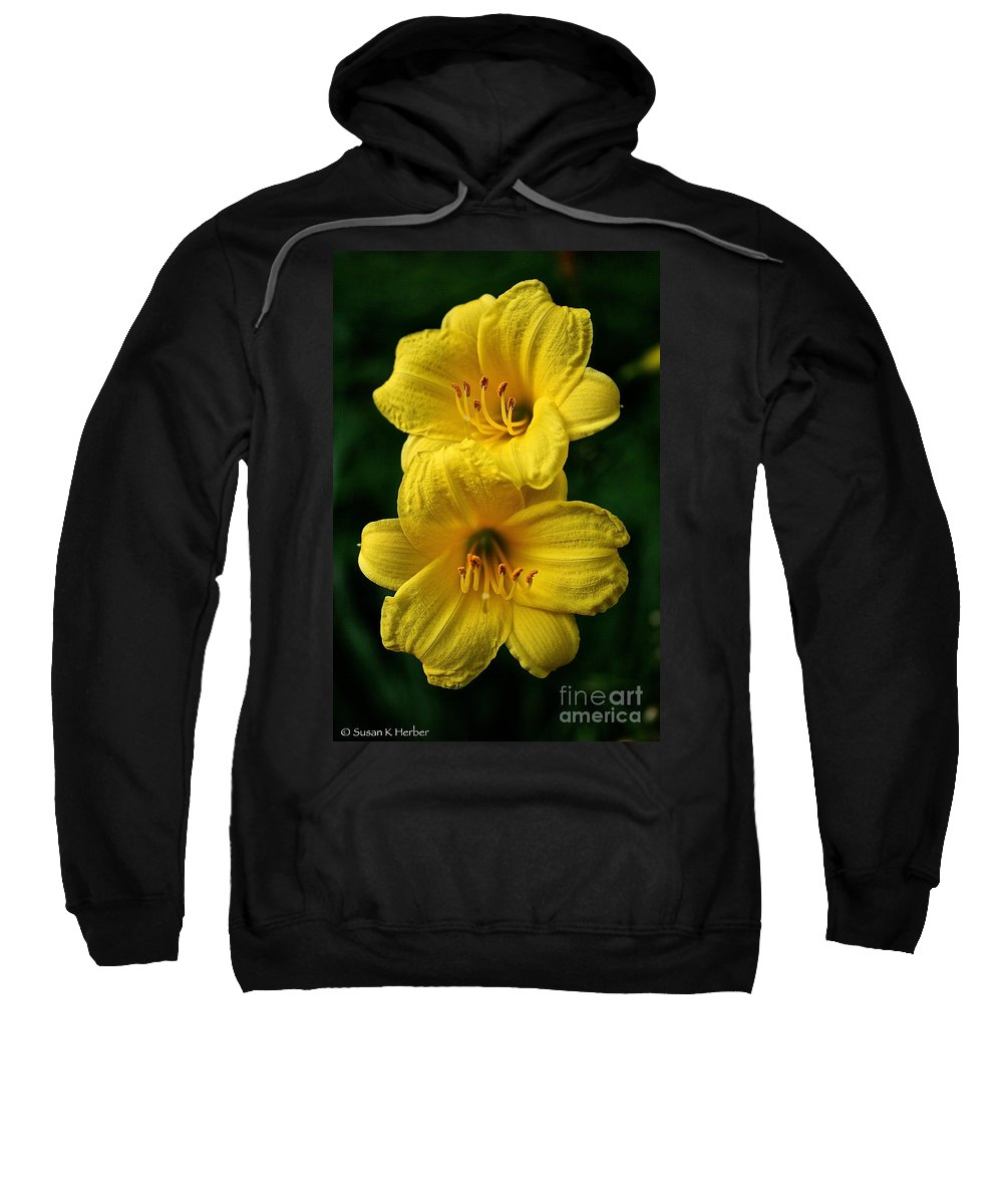 Floral Sweatshirt featuring the photograph Team Sunshine by Susan Herber