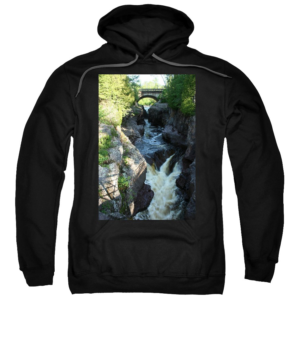 Sweatshirt featuring the photograph Temperance River 3 by Joi Electa