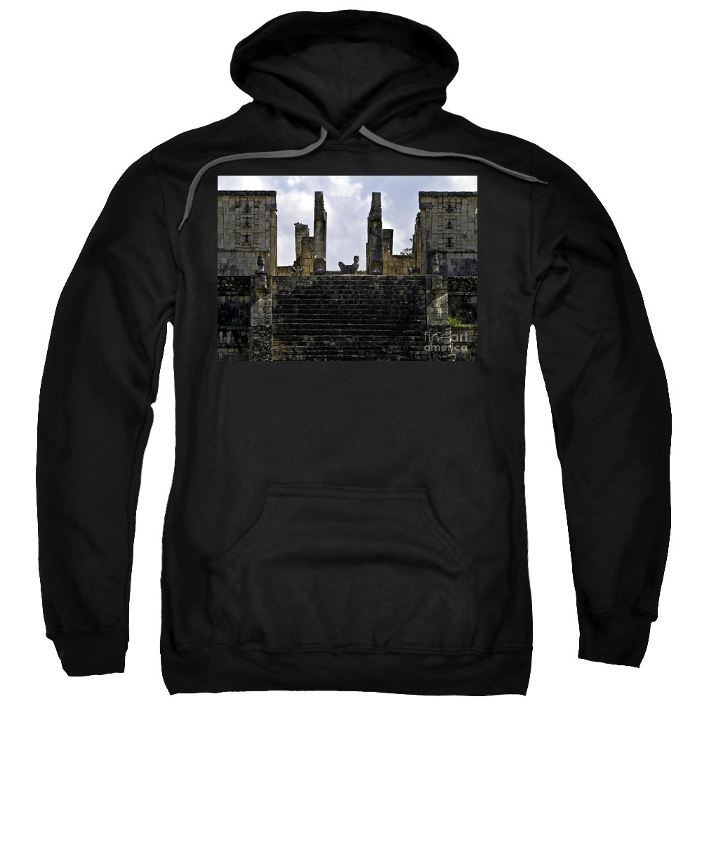 Chichen Itza Sweatshirt featuring the photograph Temple Of The Warriors by Ken Frischkorn