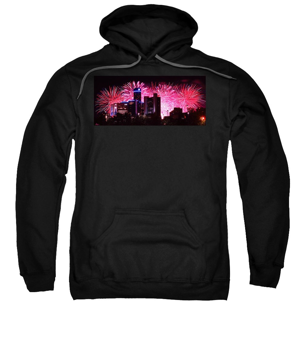 The Sweatshirt featuring the photograph The 54th Annual Target Fireworks In Detroit Michigan by Gordon Dean II