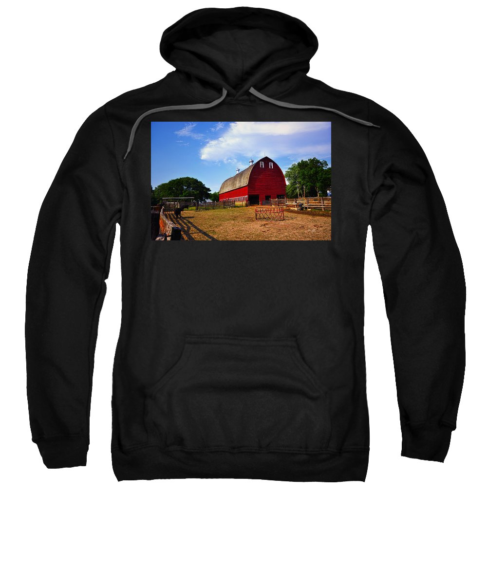 Barn Sweatshirt featuring the painting The Barn by Tom Bell
