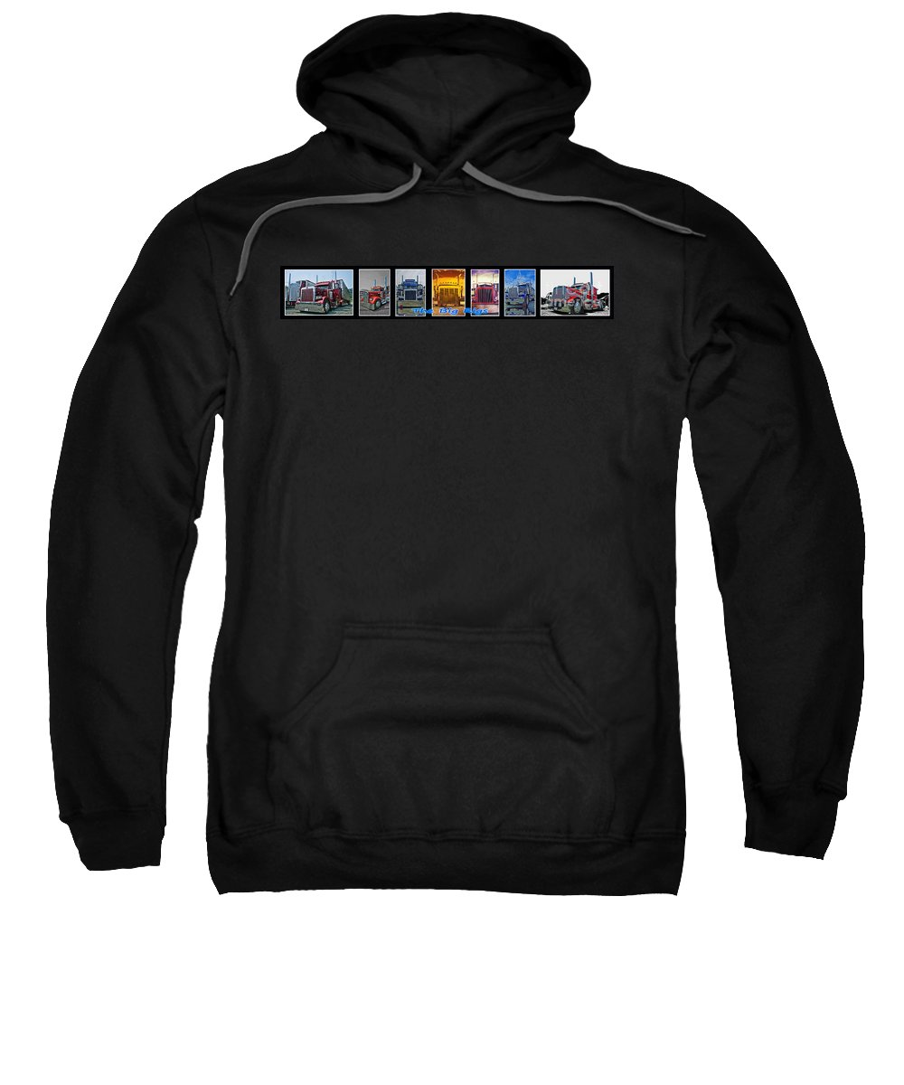 Trucks Sweatshirt featuring the photograph The Big Rigs Group Pic by Randy Harris