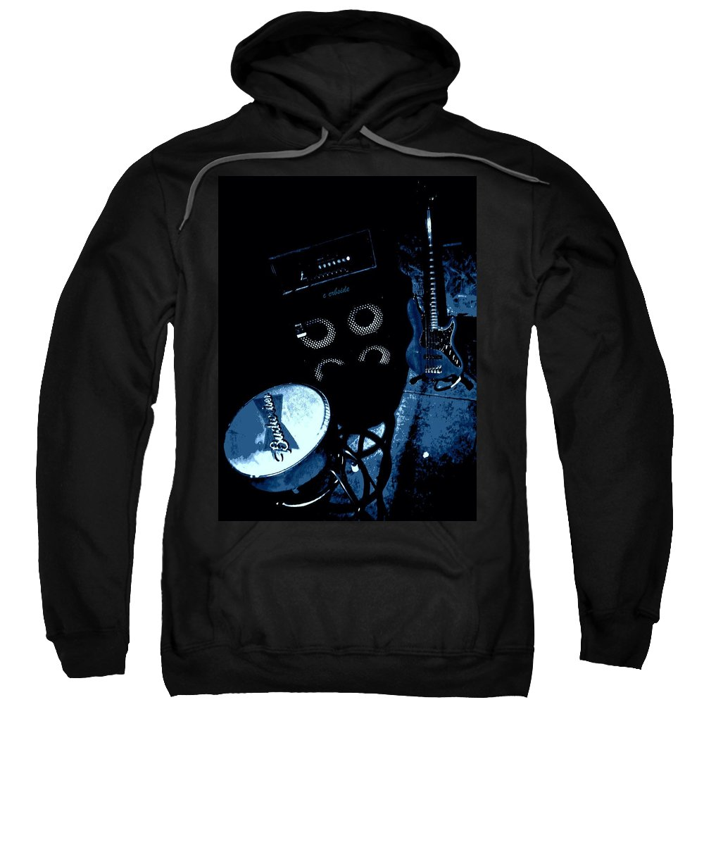 Musical Sweatshirt featuring the photograph The Blues Corner by Chris Berry