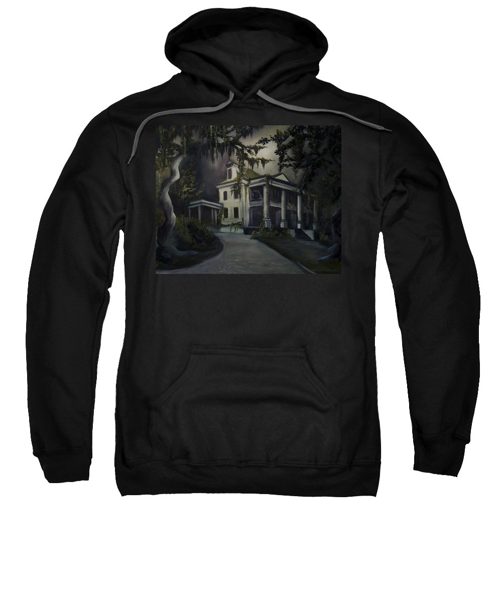 Ruins Sweatshirt featuring the painting The Dark Plantation by James Christopher Hill