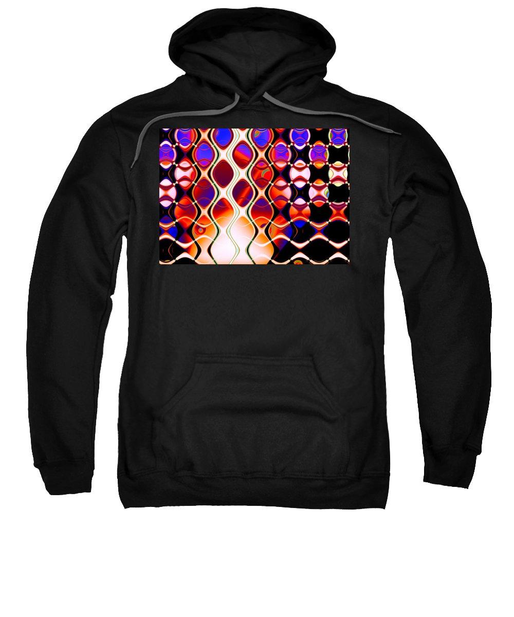 Fabric Sweatshirt featuring the digital art The Fabric Of Time by Hakon Soreide