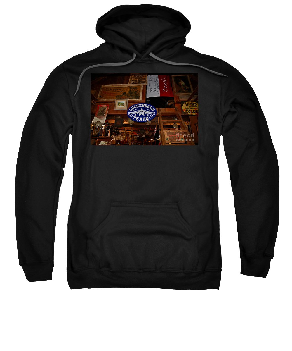 Luckenbach Sweatshirt featuring the photograph The General Store In Luckenbach Tx by Susanne Van Hulst