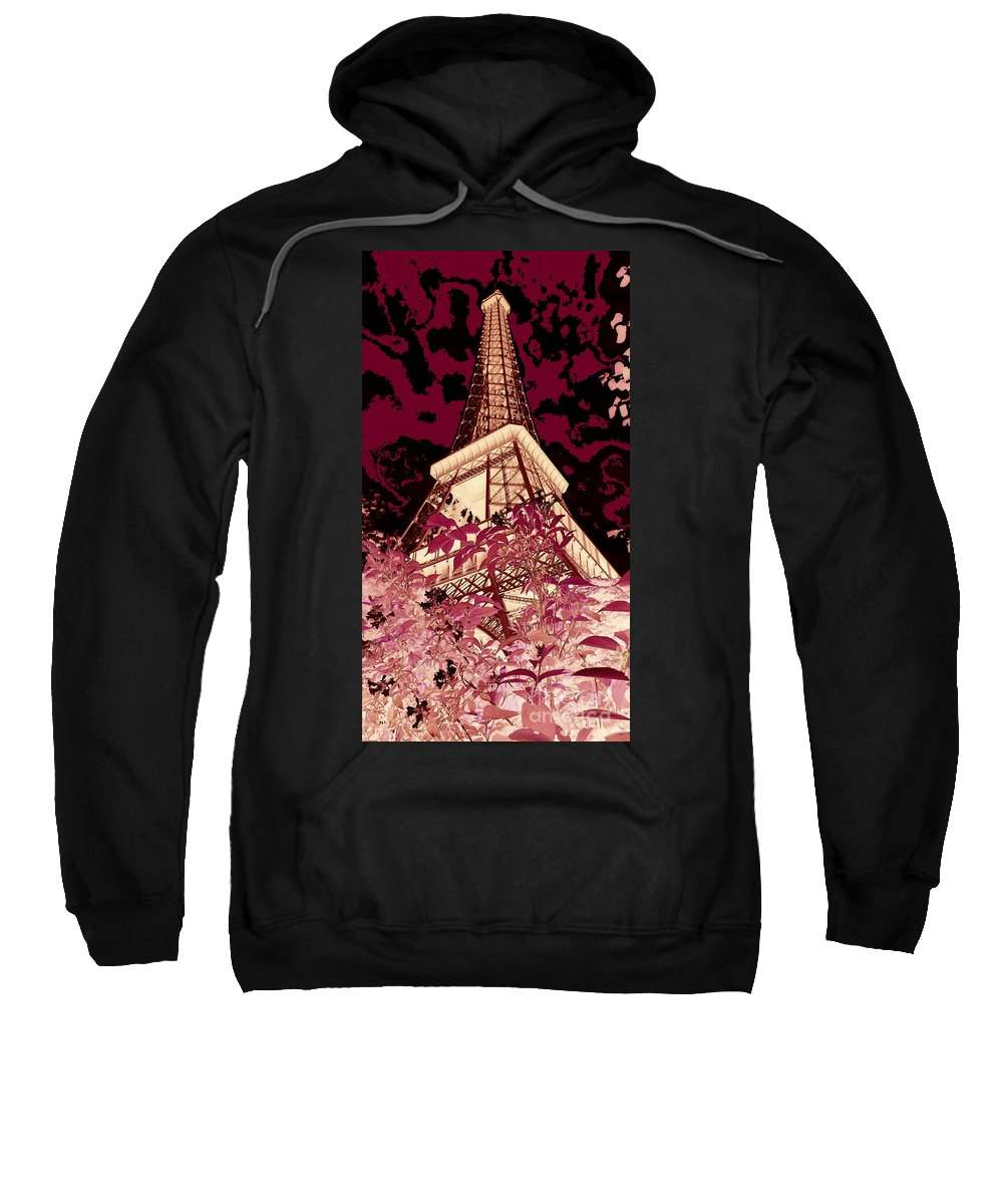 Paris Sweatshirt featuring the digital art The Heart Of Paris - Digital Painting by Carol Groenen