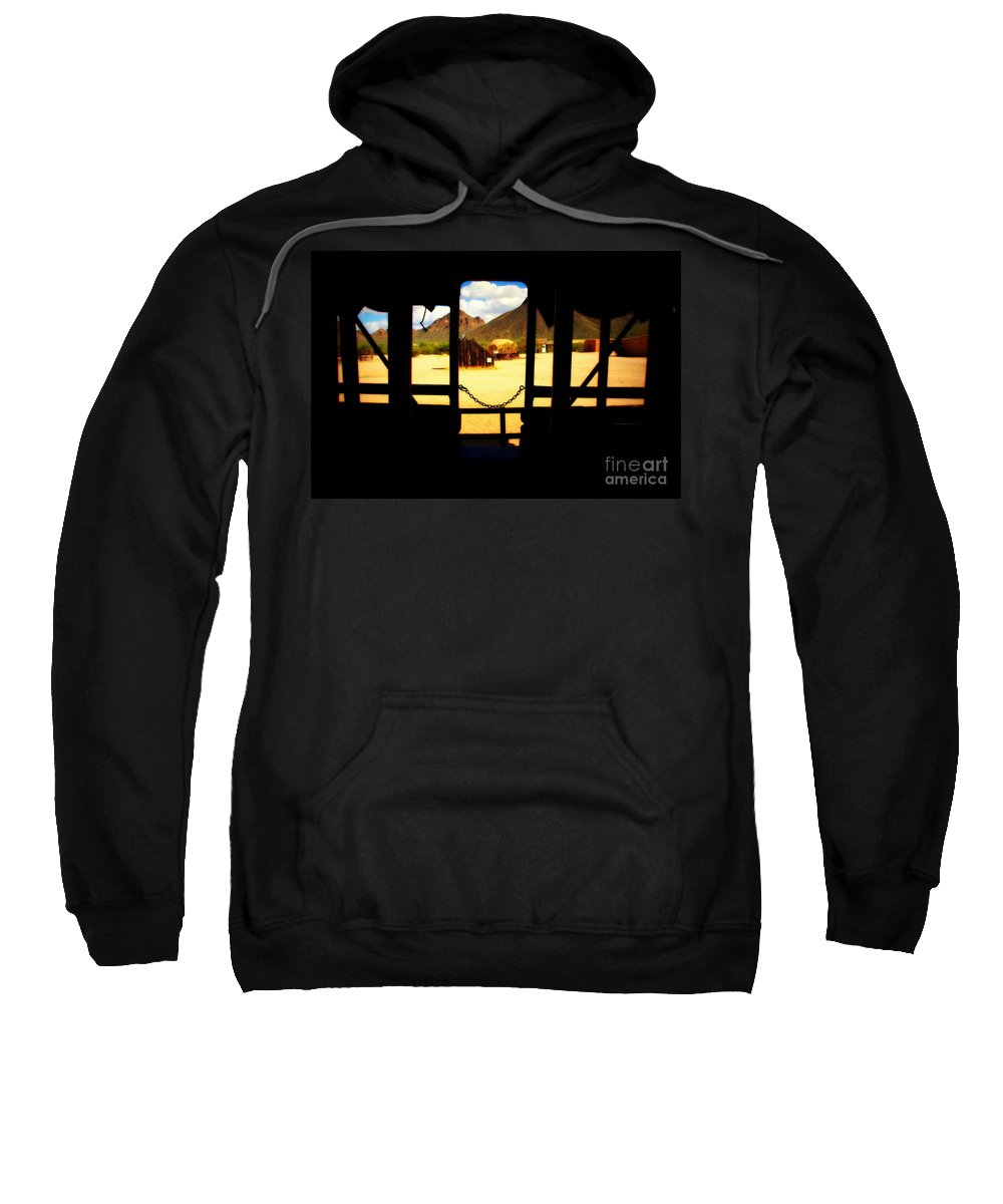 Village Sweatshirt featuring the photograph The Hills In Old Tuscon Az by Susanne Van Hulst