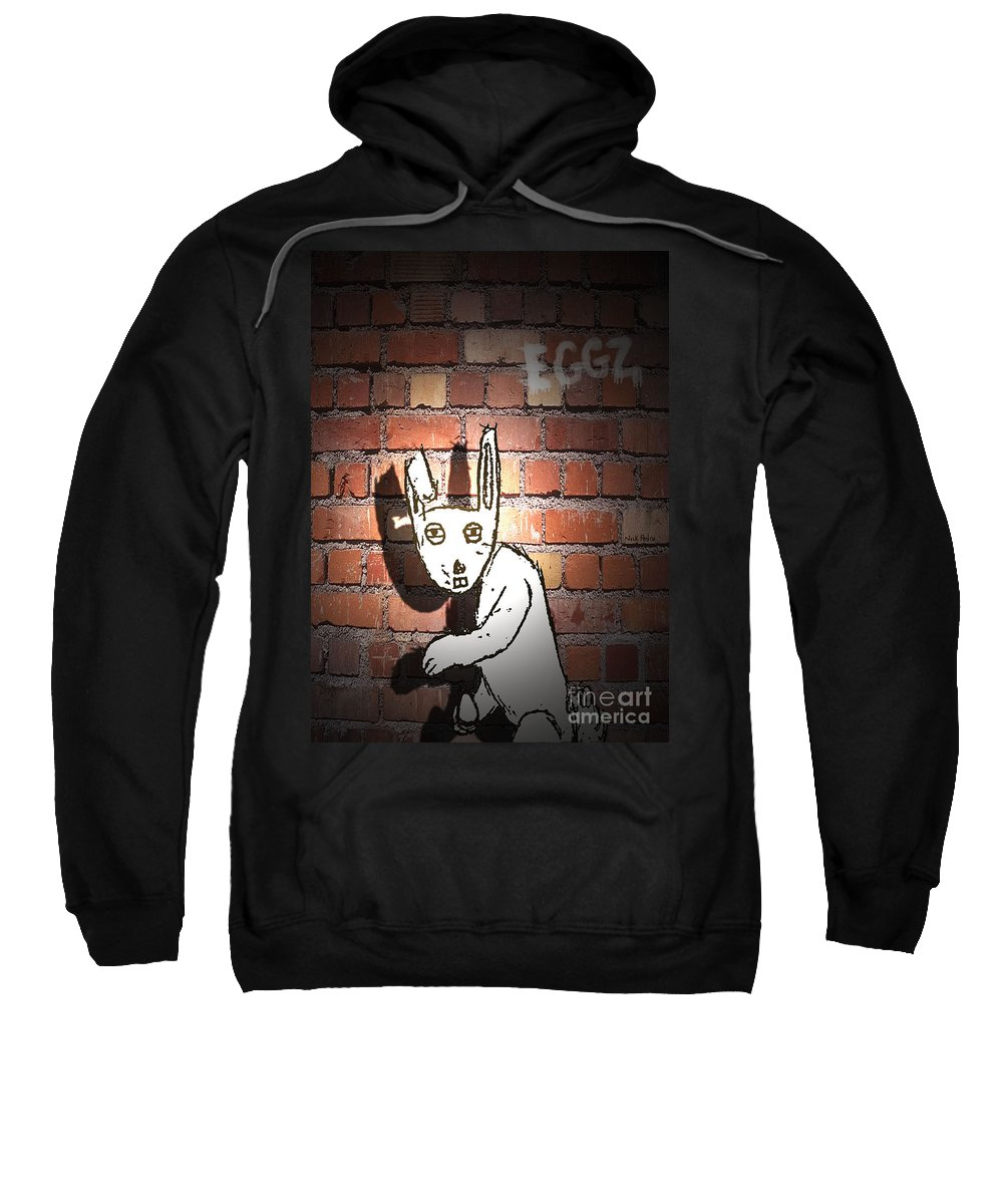 Rabbits Sweatshirt featuring the digital art The Imposter by George Pedro