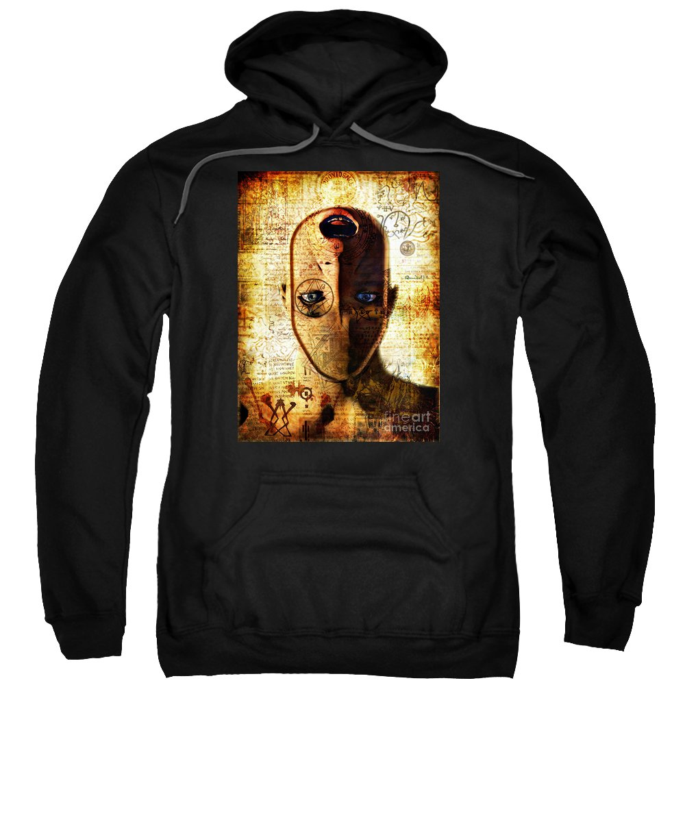 Science Fiction. Sweatshirt featuring the digital art The King In Yellow by Luca Oleastri