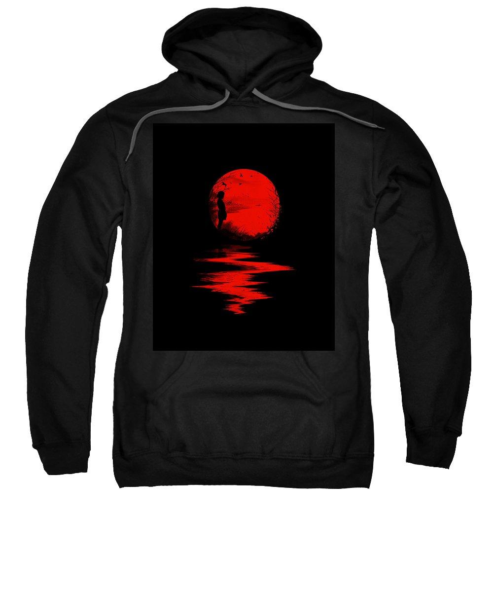 Art Sweatshirt featuring the digital art The Land Of The Rising Sun by Nicebleed