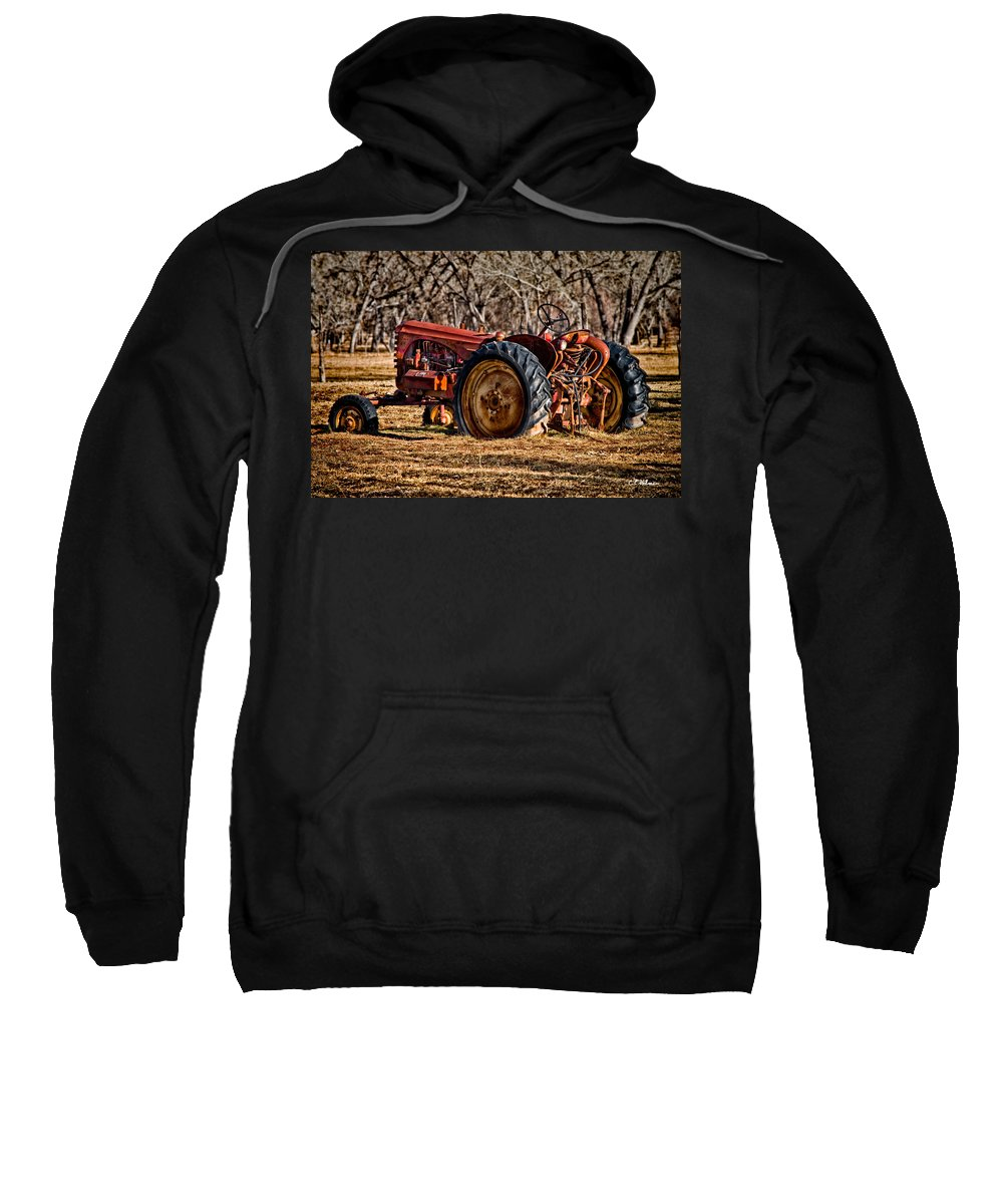 Tractor Sweatshirt featuring the photograph The Last Field by Christopher Holmes