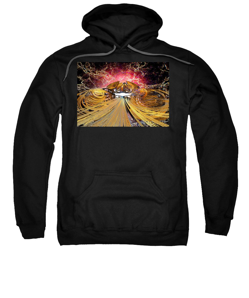 Digital Sweatshirt featuring the digital art The Light At The End Of The Tunnel by Michael Durst