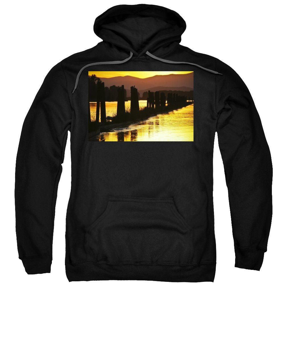 Clark Fork Sweatshirt featuring the photograph The Lost River Of Gold by Albert Seger