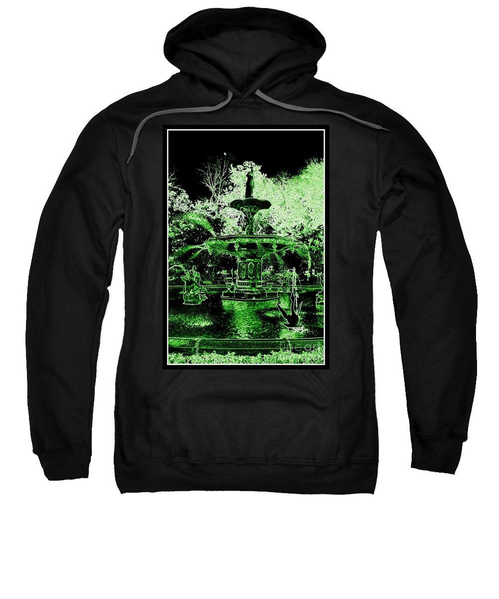 Savannah Sweatshirt featuring the photograph Green Savannah by Carol Groenen