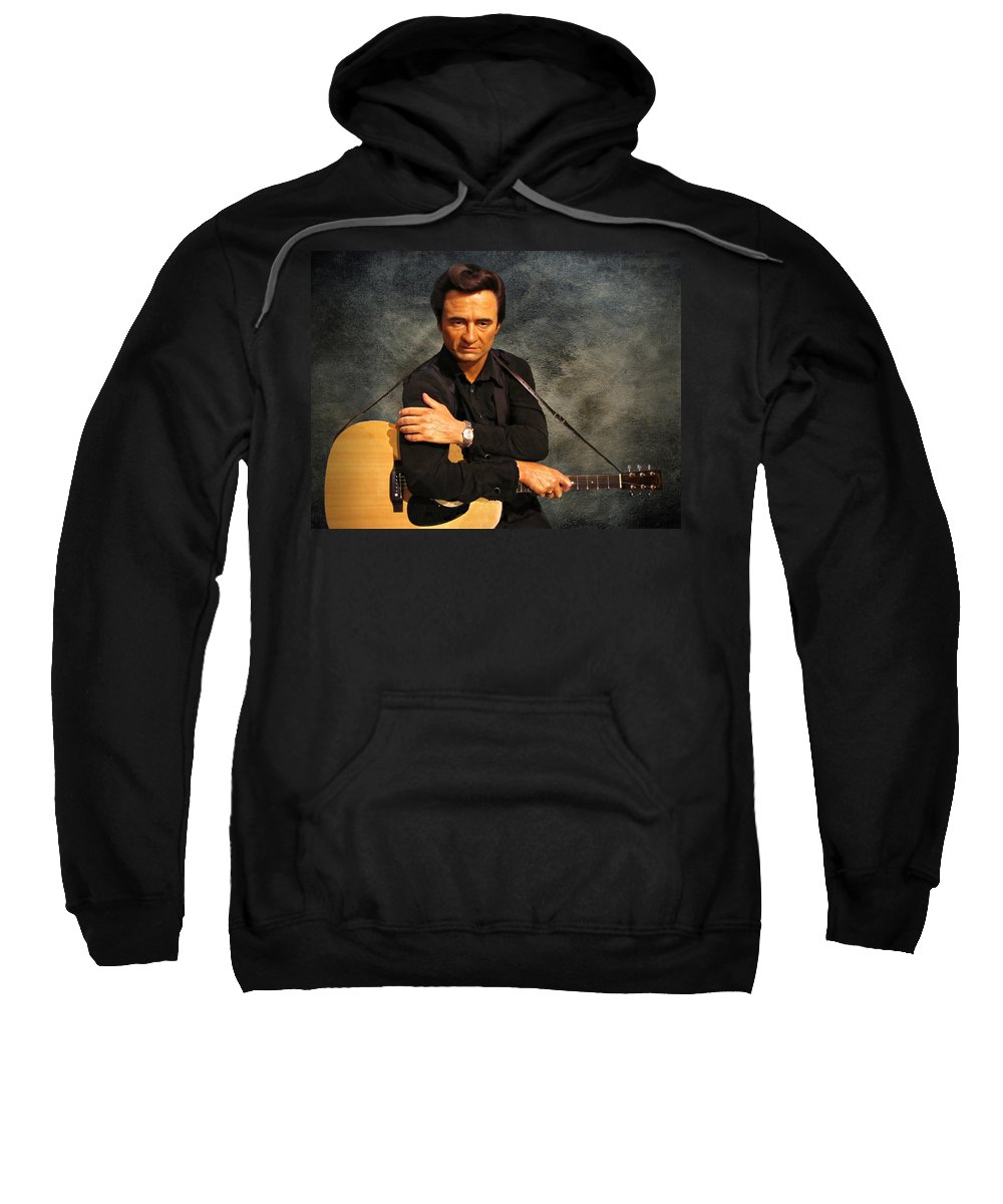 Johnny Cash Sweatshirt featuring the photograph The Man In Black by David Dehner