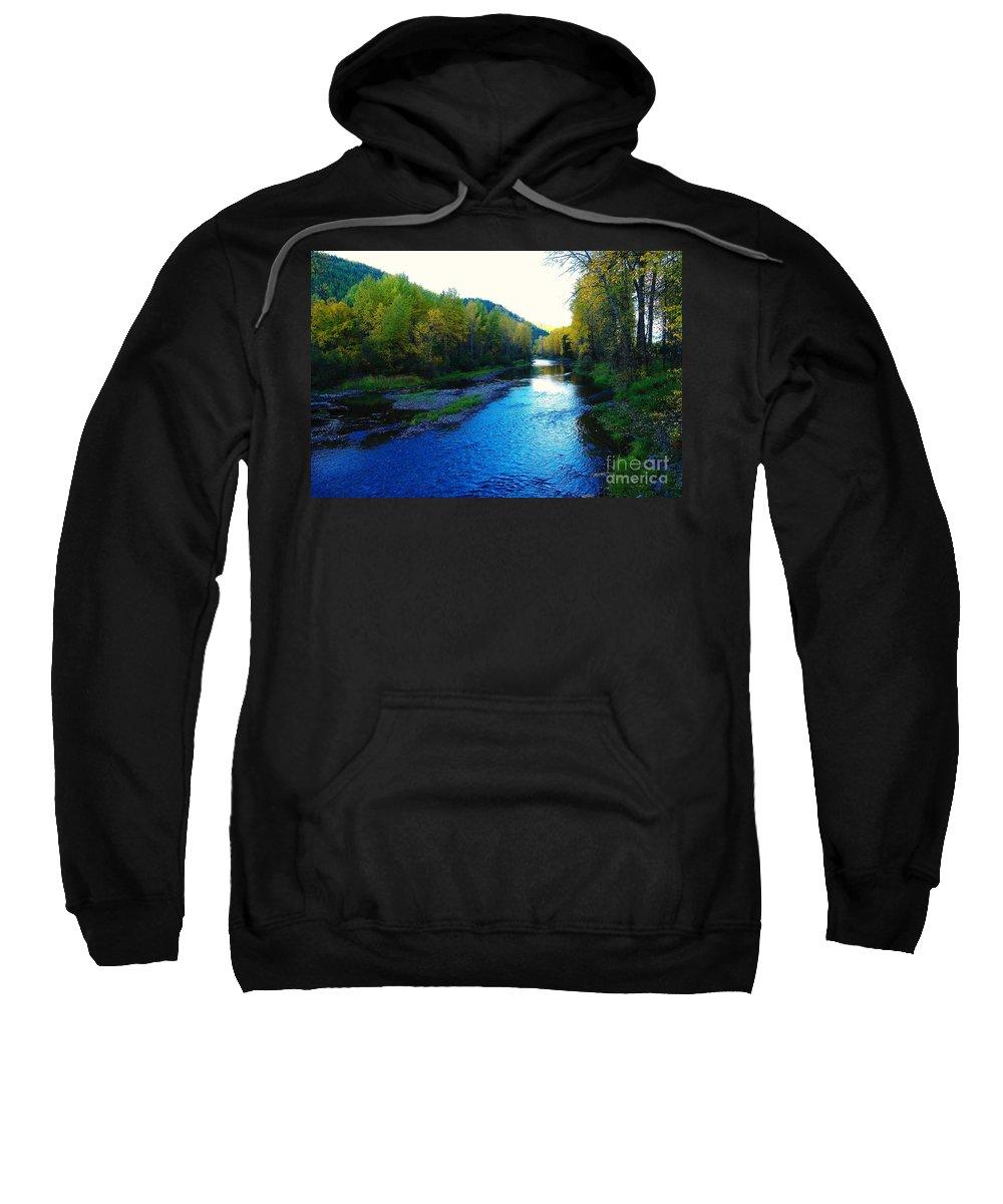 Autumn Sweatshirt featuring the photograph The Moyie River Near Yak B C by Jeff Swan