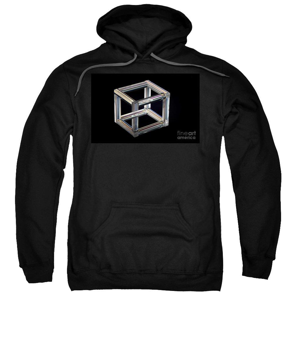 Philosophy Sweatshirt featuring the photograph The Necker Cube by Raul Gonzalez Perez